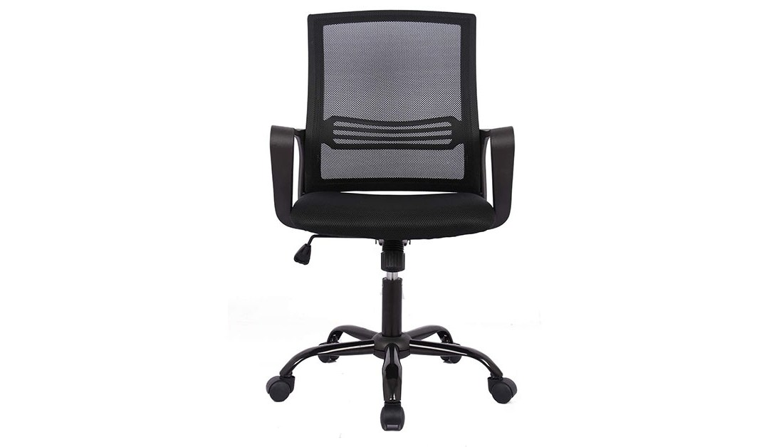 Amazon | BEST PRICE: SMUGDESK Ergonomic Lumbar Support Task Computer Desk Mesh Office Chair with Wheels and Arms, Black
