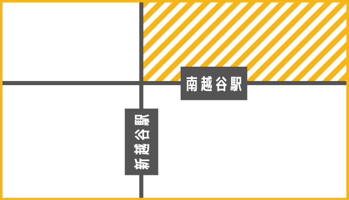エリア地図(南越谷駅北口)