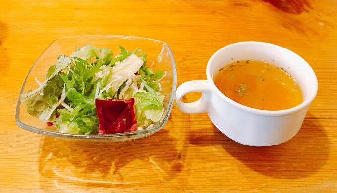 ビストロ男前(スープとサラダ)