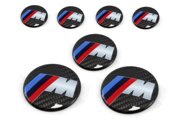 Carbon fiber BMW M badge intake cover KIT