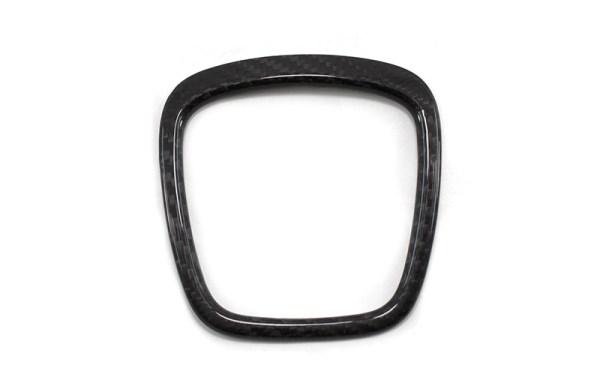 Carbon fiber AUDI steering wheel logo trim