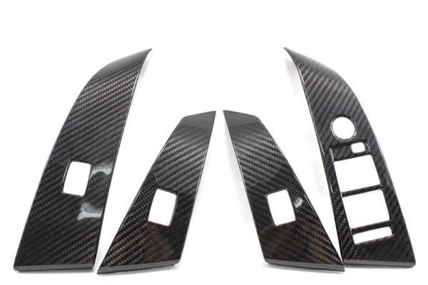 Carbon fiber BMW E60 E61 window switch cover
