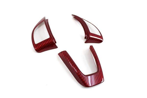 Red Carbon fiber steering wheel trim cover kit