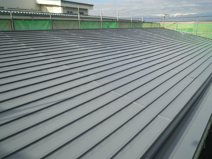 屋根塗装完了1