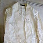 白いジャケットのシミ抜き