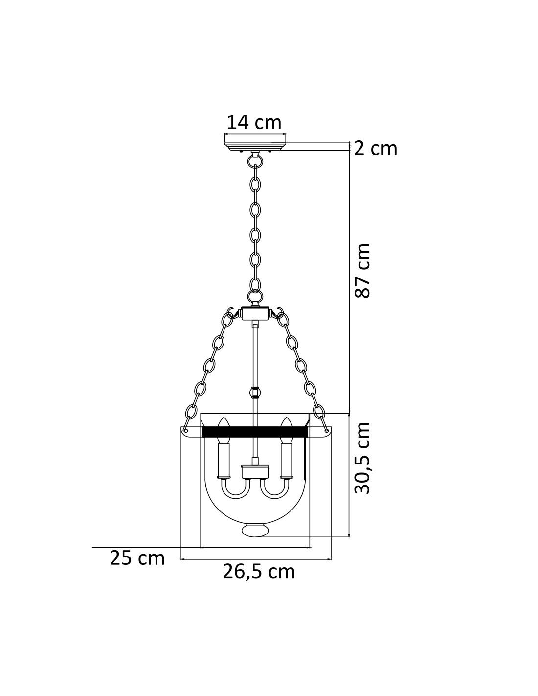 Glass Chandelier With Candelstick Design
