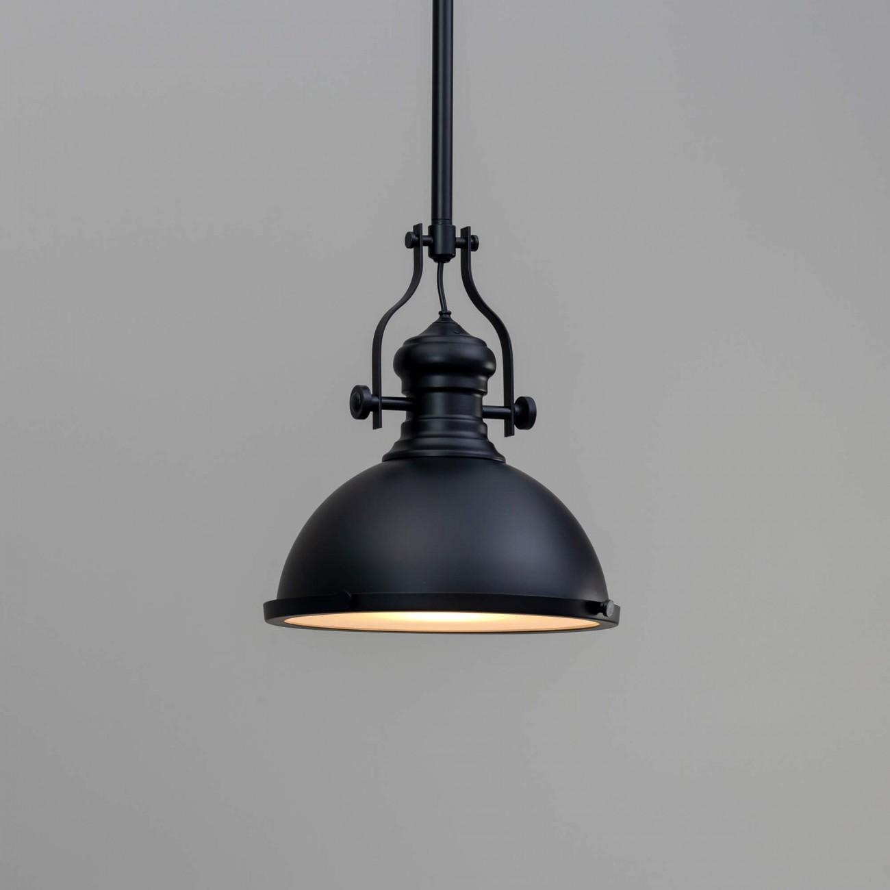 Black Industrial Pendant Light For Kitchen Neris Kosilight