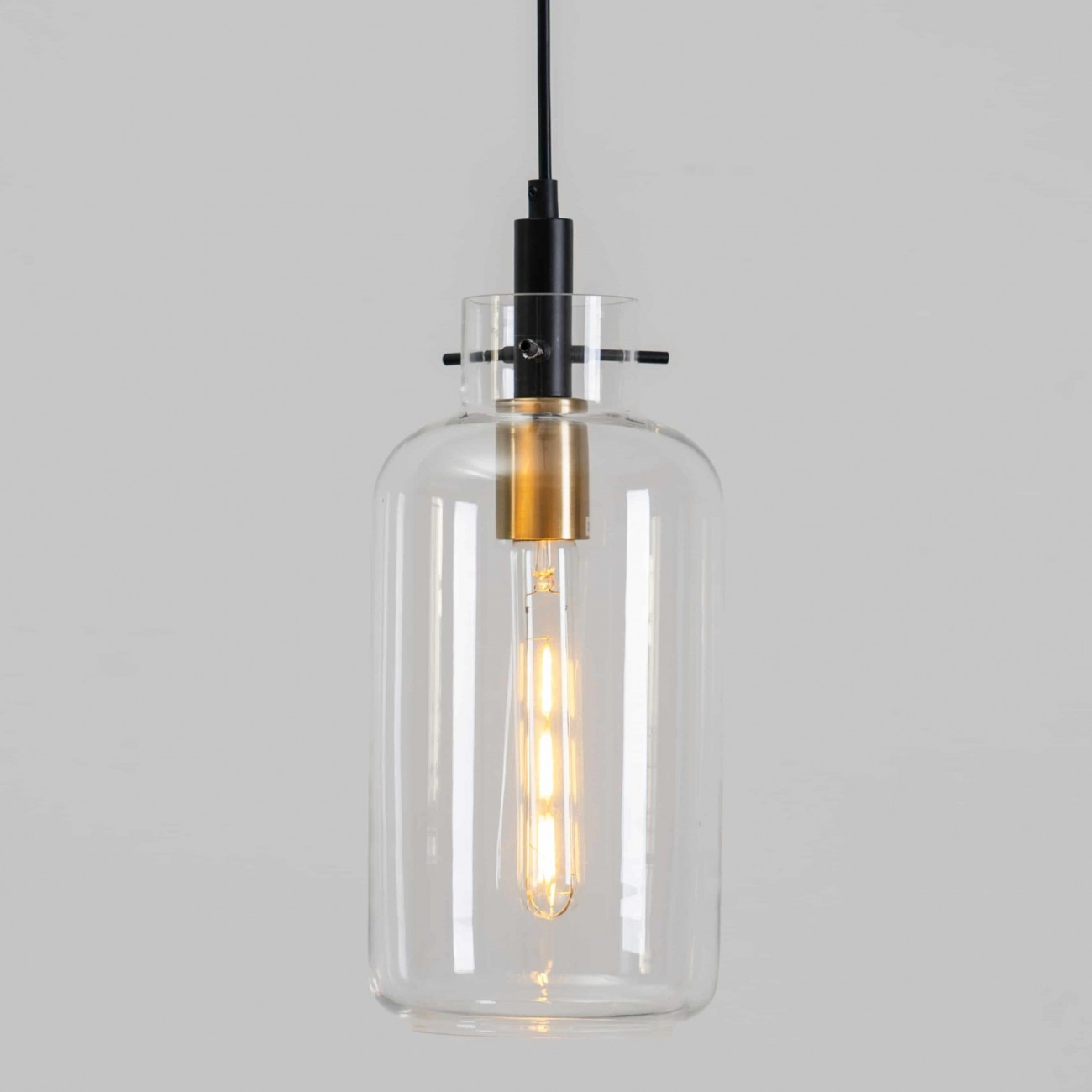 Hanging Light In Crystal Glass