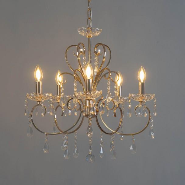 Lampadario a soffitto moderno 44 pendenti in vetro lampadariolampadario a soffitto moderno 44 pendenti in vetro e14 43x100 cm grigiorinnova i tuoi spazi con. Cristallo Barocco Lampadario 5 Braccia Con Pendente Oro Pavia