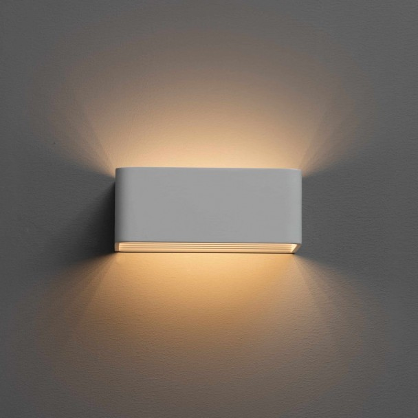 applique murale led blanc design quadra 6w 20cm