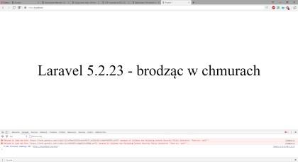 CSP font-src - efekt z włączoną dyrektywą (źródło 'self')