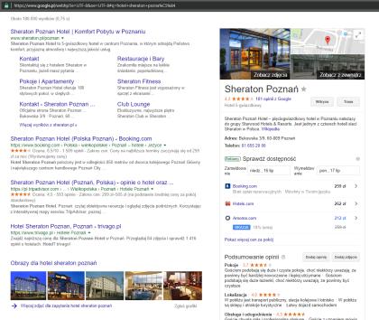 Wynik wyszukiwania hotelu Sheraton Poznań