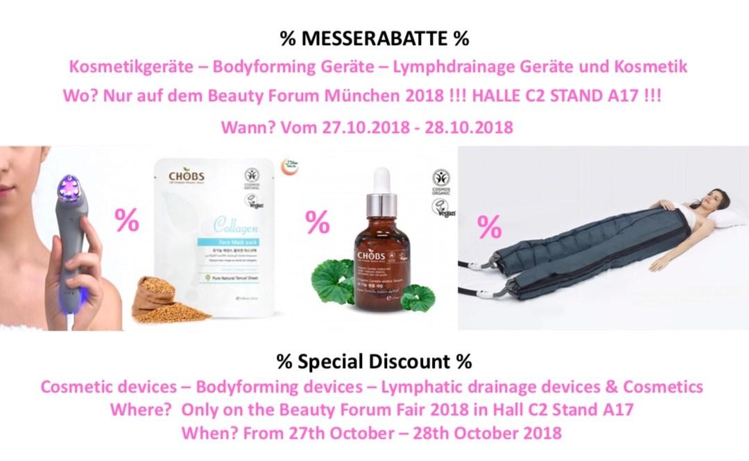 Clubsante auf der Beauty Forum Messe 2018 in München Halle C2 Stand 17