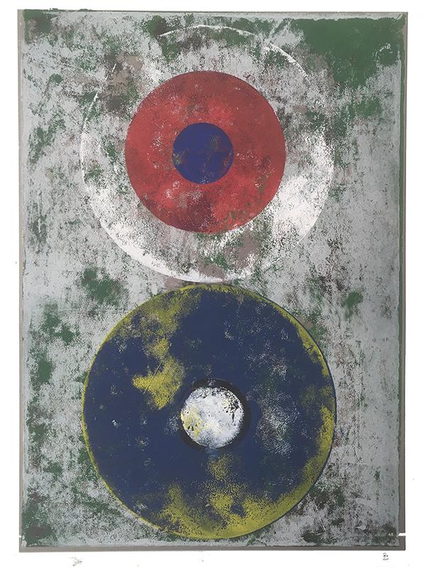 Corona Borealis, 2019, Linoldruck, 45 x 31,5 cm