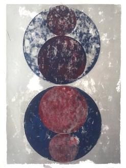 Konjunktion, 2019, Linoldruck, 46 x 32 cm
