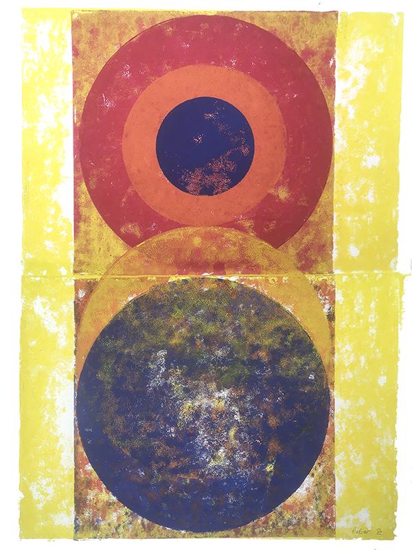 Pulsar, 2018, Linoldruck, 46 x 32 cm