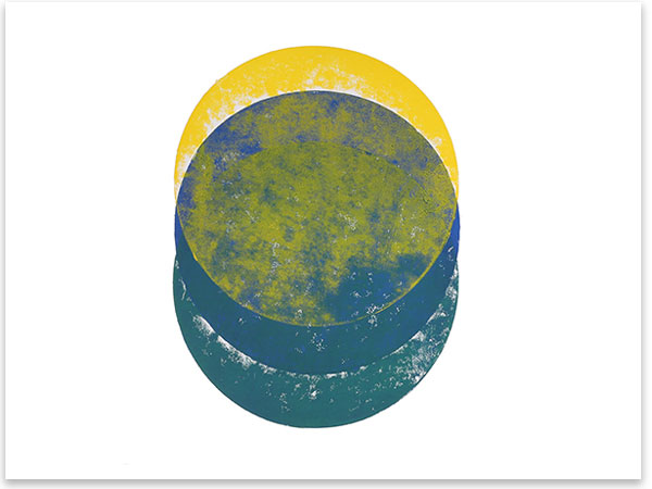 Sol obscuratus, 2018, Linoldruck, 46 x 32 cm