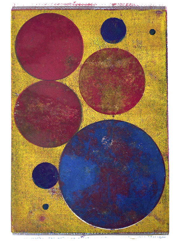 Integraphen, 2020, Linoldruck, 45 x 30 cm