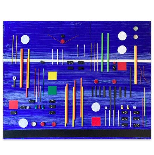 Partitur, 2021, Assemblage, 77,5 x 96,5 cm