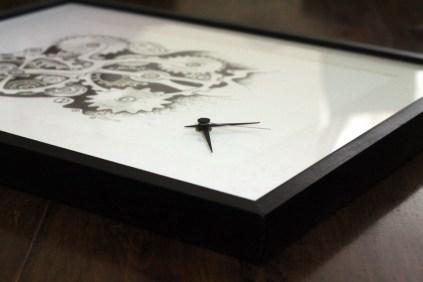 Bild mit Uhrwerk