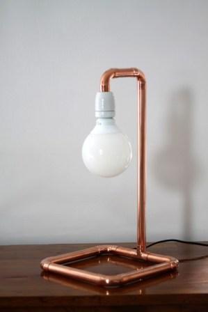 Kupferrohr Lampe