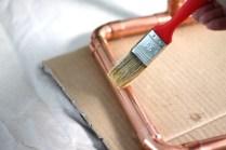 Kupferlampe lackieren