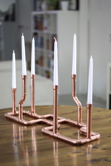 Kerzenständer Kupfer
