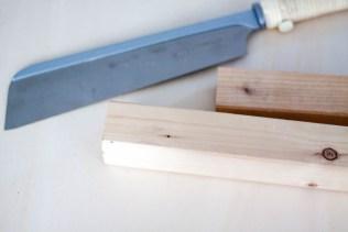 Holz und Säge