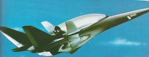 Západonemecký raketoplán Sänger. Štartovať mal zo špeciálneho prúdového nadzvukového lietadla, ktoré by orbiter vynieslo do výšky 30km.