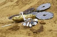 Beagle 2 se svou robotickou paží zdroj:esa.int