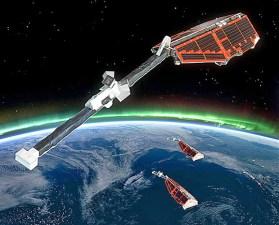 Družice SWARM na oběžné dráze