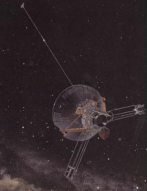 Vizualizace sondy Pioneer 10