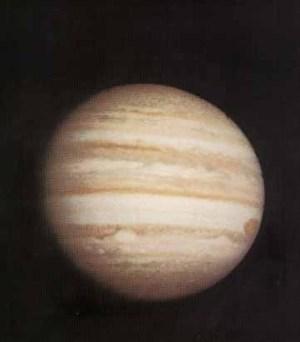 Jupiter z Pioneeru 10.