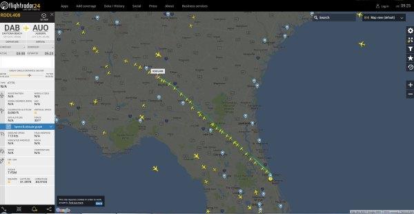 Floridu opouští malá letadla.