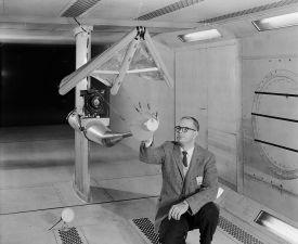 Samokřídlo ve větrném tunelu