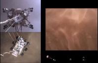 EDL Perseverance. Pohled ze tří kamer. Zdroj: NASA/JPL-Caltech