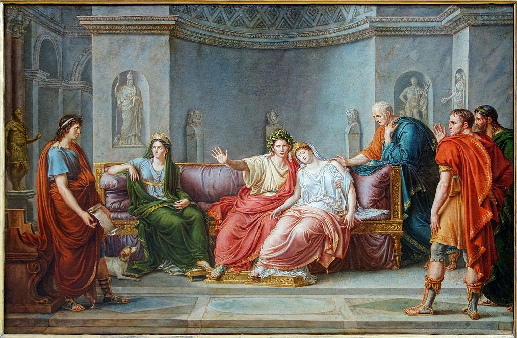 Painting Wicar Virgil Reading Aeneid