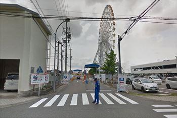 名古屋港水族館の周辺にあるガーデンふ頭西駐車場
