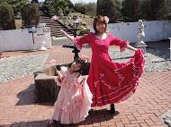 リトルワールドの衣装 フラメンコドレス