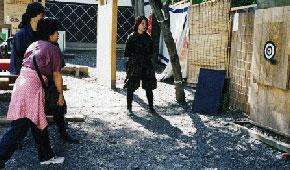伊賀流忍者博物館の手裏剣打ち