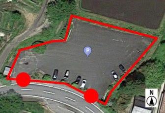 上から見た駐車場 B-1
