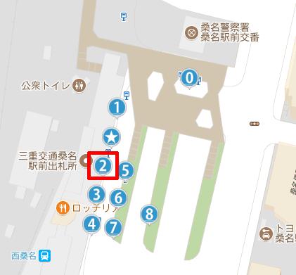 桑名駅の2番乗り場