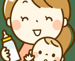 ママと赤ちゃん-ミルク