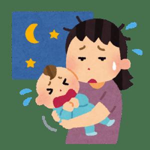 赤ちゃんの寝ぐずり