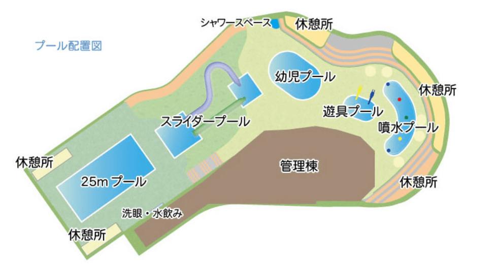 保土ヶ谷公園のプール配置図