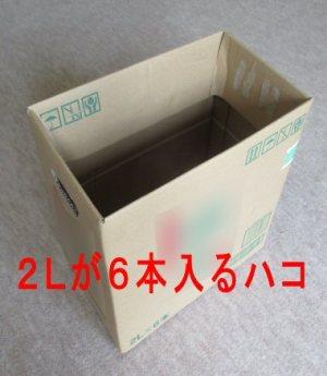お茶やジュースの大きなペットボトル(1.5Lや2L)のはいる箱
