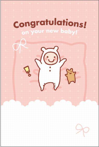 ハート 【出産祝い用メッセージカード】