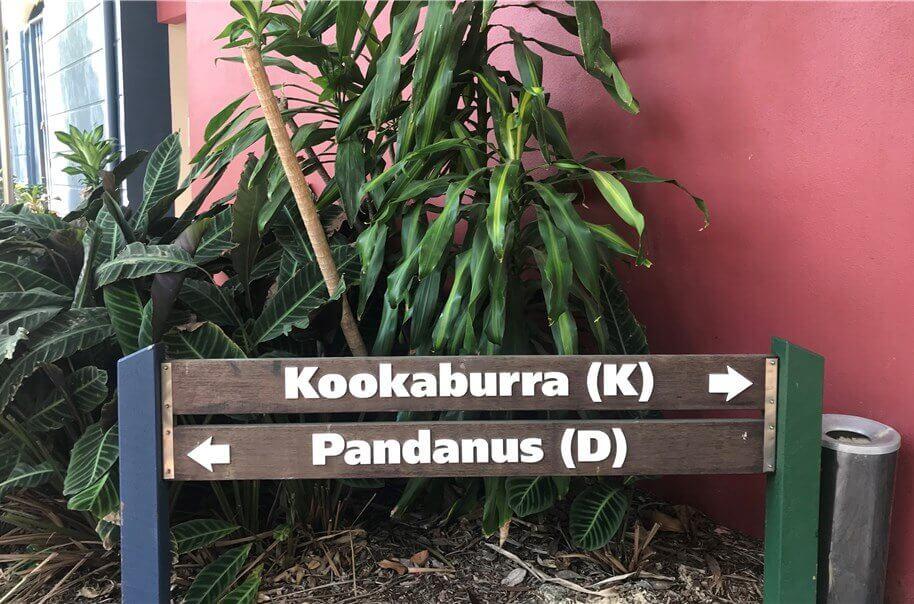 タンガルーマアイランドリゾートの一番ベーシックな部屋『ホテルルーム』のある建物「Kookaburra棟」の写真。
