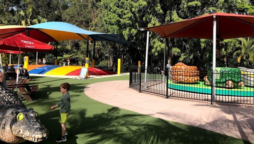 オーストラリア動物園の園内にあるプレイグラウンドのエリアを写した写真