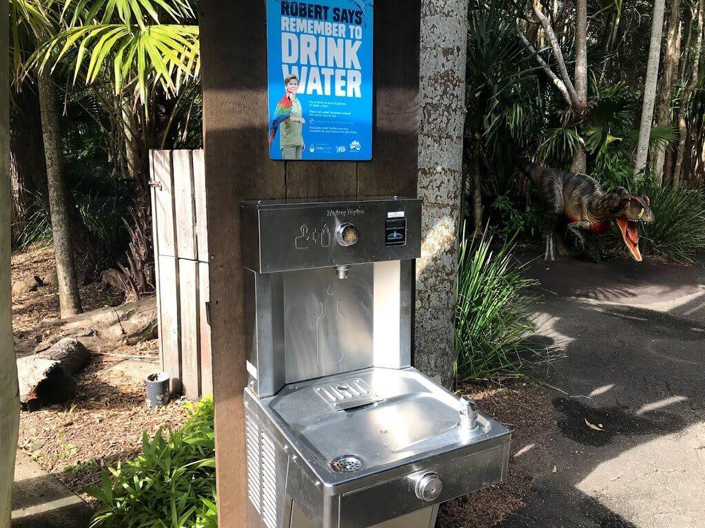 オーストラリア動物園 園内の飲み水用の水道